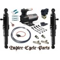 """Harley Davidson Touring / Bagger / Dresser Air Suspension Kit WITH """"GRIP SWITCH"""" CLUTCH PERCH MOUNT UP/ DOWN CONTROL"""