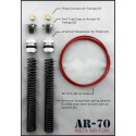 AIR PRESSURE GAUGE KIT FOR HARLEY AIR RIDE SUSPENSION... EVOLUTION OR TWIN CAM