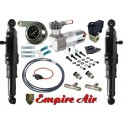 """HARLEY REAR AIR RIDE KIT TOURING BAGGER MODELS WITH 2"""" FRONT FORK LOWERING KIT"""