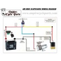 AIR RIDE COMPRESSOR KIT FOR LOWERED AIR SHOCKS